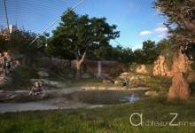 Zoo Hannover Schimpansen-Aussengehege